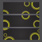 Set of banners with yellow circles