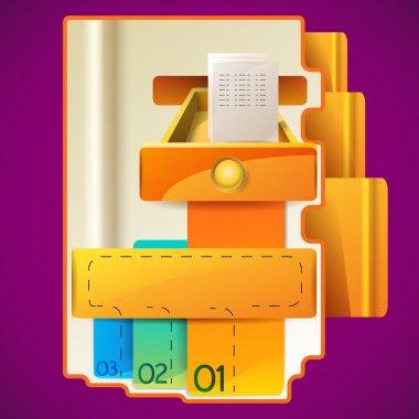 Modern Design template design stock vector