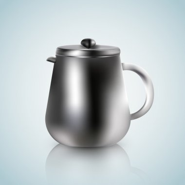 Kettle on a white blue background stock vector