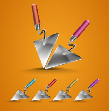 Set of Construction Trowel stock vector