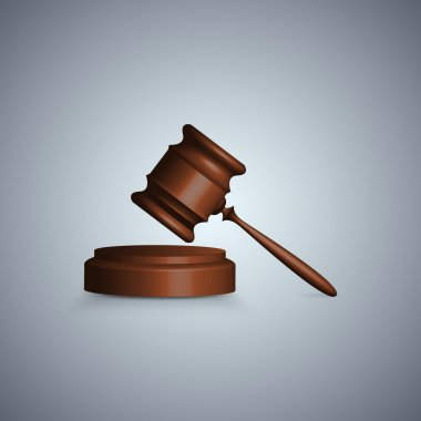 Judge gavel in focus stock vector