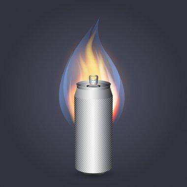 Burn energy drink. Vector stock vector