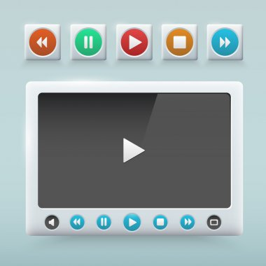 Multimedia Button interface,  vector illustration stock vector