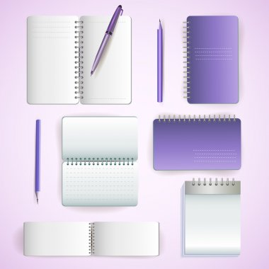 Set of note paper stock vector
