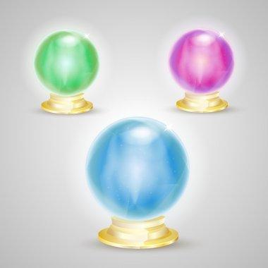 Fortunetelling Balls,  vector illustration stock vector