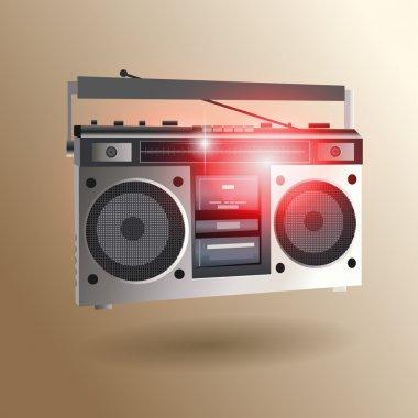 Retro Radio Set Icon stock vector
