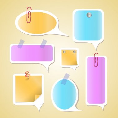 Paper text bubbles,  vector illustration stock vector