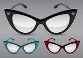 retro sluneční brýle, vektorové ilustrace