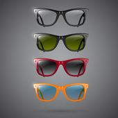 Retro sluneční brýle, vektorová design