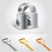 Vektor-Illustration von Schlüsseln und Schlössern