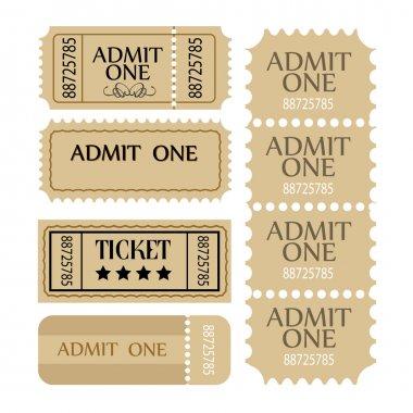 Ticket set. Vector coupon set. stock vector