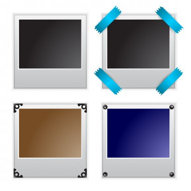 Vector illustration of polaroid photo frames stock vector