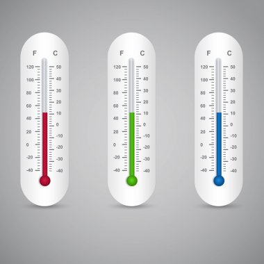 Thermometers set,  vector illustration stock vector