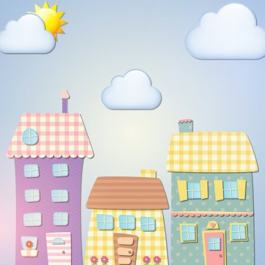 Old city background. Vector stock vector