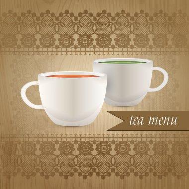 Tea menu,  vector illustration stock vector