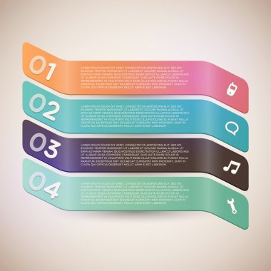 Banners with numbers,  vector illustration stock vector
