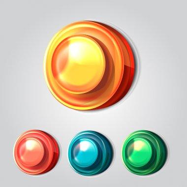Vector buttons,  vector illustration stock vector