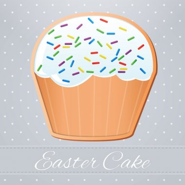 Easter cake,  vector illustration stock vector