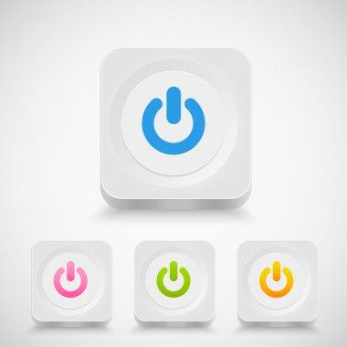 Vector Power buttons,  vector illustration stock vector