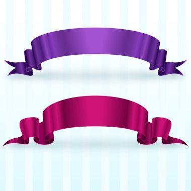 Banners with ribbon,  vector illustration stock vector