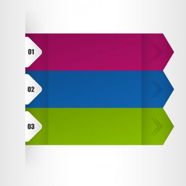 Banners with numbers vector illustration stock vector