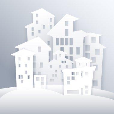 Cartoon white city vector stock vector