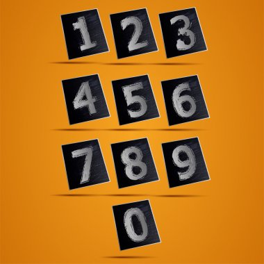 Number phone keypad vector illustration stock vector