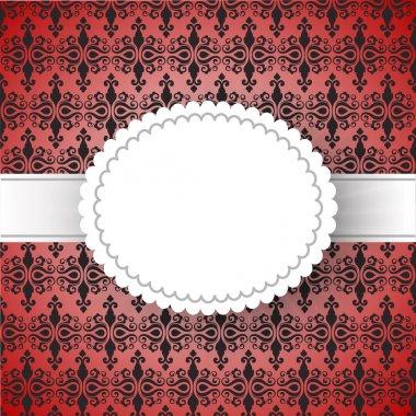 Vintage frame template. vector illustration stock vector