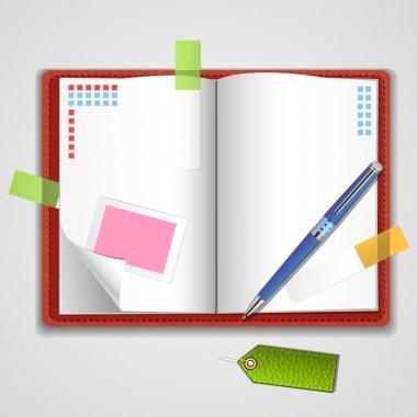 Vector Notepad paper vector illustration stock vector
