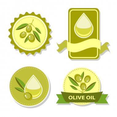 Icon of vector olive oil stock vector