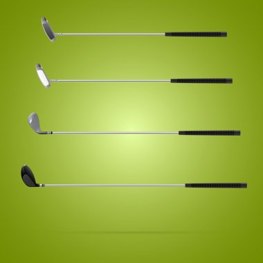 Four different type of golf clubs stock vector