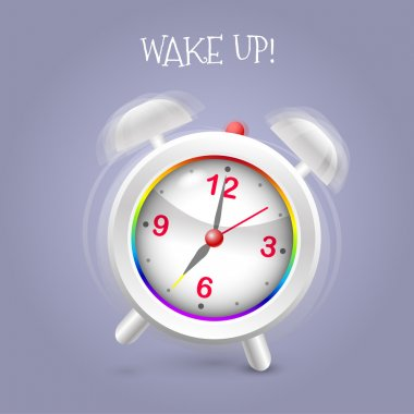 Alarm clock ringing vector illustration stock vector