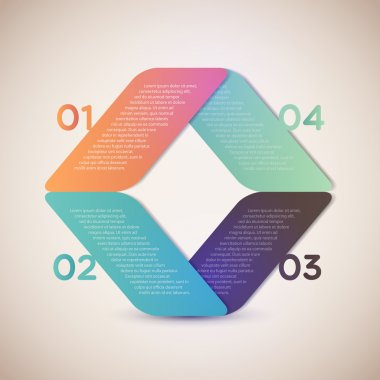 Banners with numbers. vector illustration stock vector