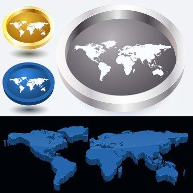World map, vector design stock vector