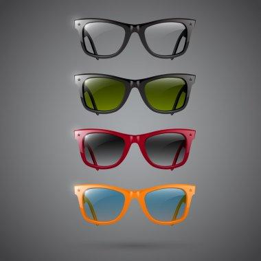 Retro sunglasses, vector design stock vector