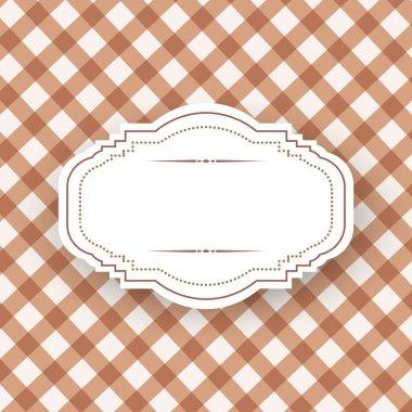 Vintage frame template, vector design stock vector