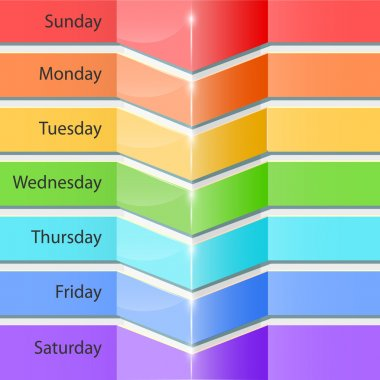 Banners with days of the week stock vector