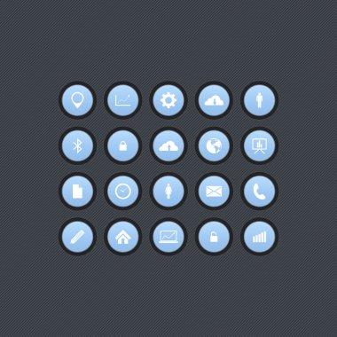 Office icon set, vector design stock vector