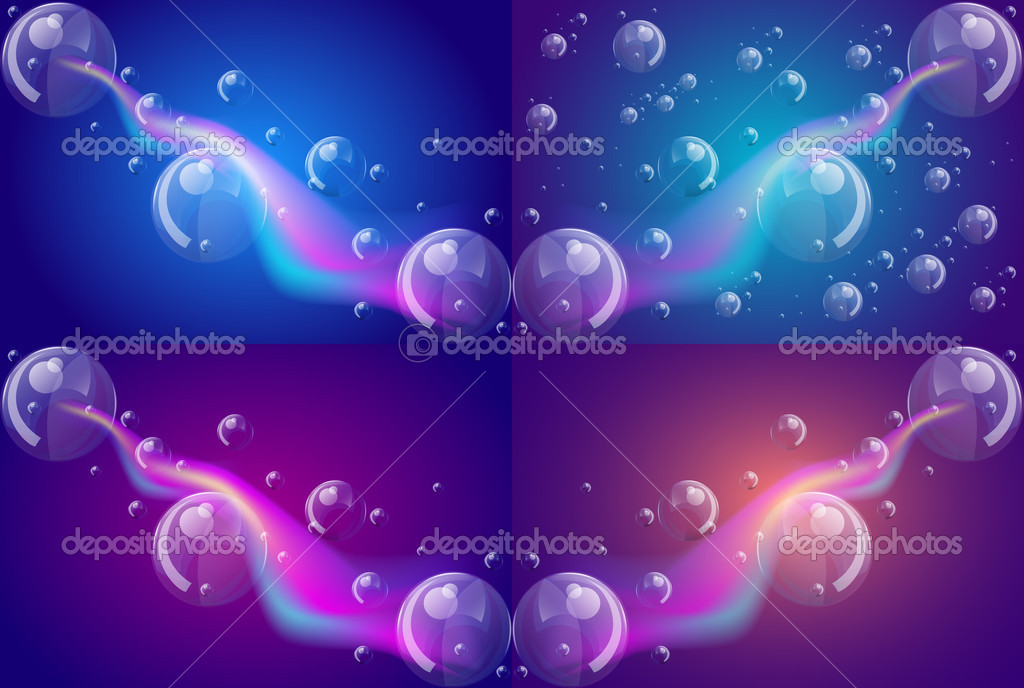 Glowing abstract background with bubbles, vector illustration stock vector