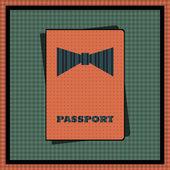 Passport cover. Vector illustration