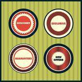 kolekce prémiové kvality štítků s retro vintage stylizovaný design