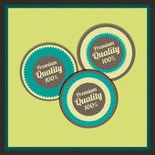 Gyűjteménye prémium minőséget igazoló címkék retro vintage stílusú design