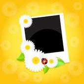 üdvözlés kártya virággal. vektor.
