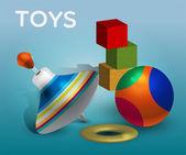 Vektor-Illustration von Spielzeug.