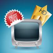 TV a vektor vektor illusztráció