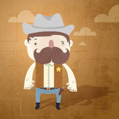 Vector grunge background with sheriff.
