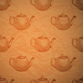 Vintage background with kettles.