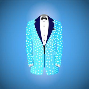 Blue suit  vector illustration stock vector