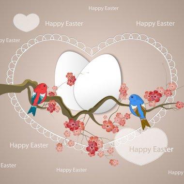 Happy Easter birds vector illustration stock vector