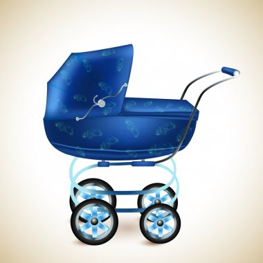 Baby buggy. vector illustration stock vector